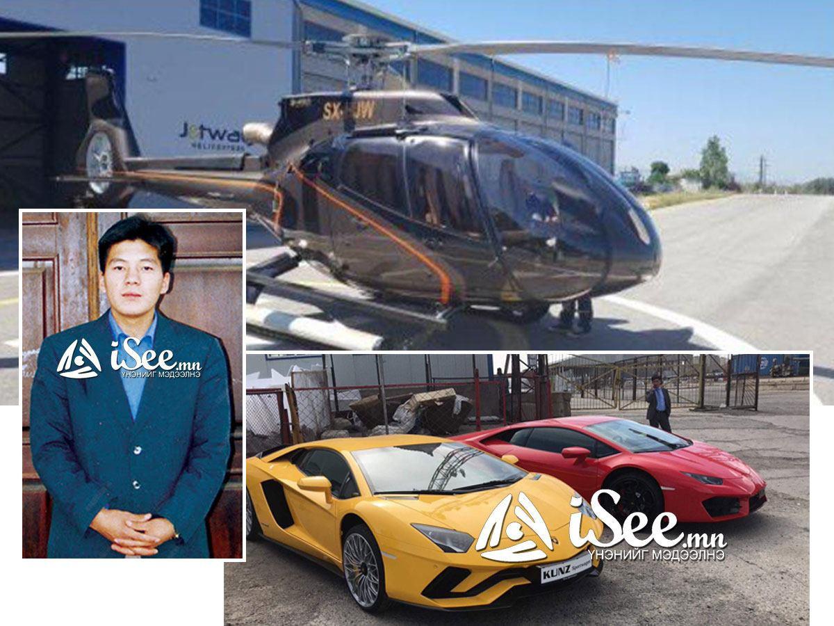 """Р.Базар $3 саяын нисдэг тэрэг, $400 мянгын  """"Lamborghini"""" хөглөж Холливудын жишгээр Монголд амьдарч байна"""